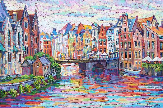 Canal in Gent by Elizabeth Elkin