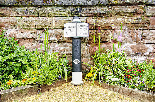 Canal marker post by Steev Stamford