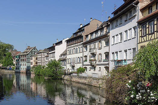 Canal View Strasbourg France by Teresa Mucha