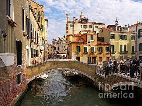 Canals and bridges in Venice Italy by Louise Heusinkveld