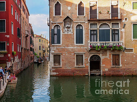 Canals and palaces in Venice Italy by Louise Heusinkveld