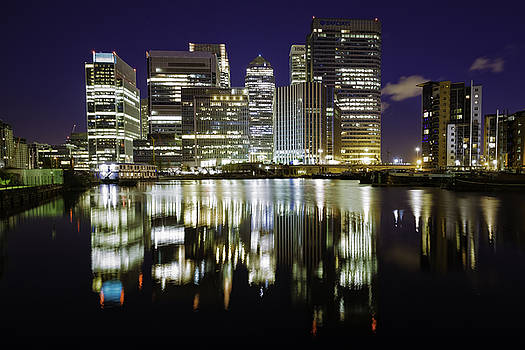 Canary Wharf at Midnight by Wendy Chapman