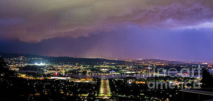 Canberra Stormy Night by Angela DeFrias