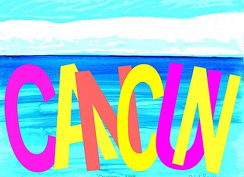 CANCUN Poster T-Shirt by Dick Sauer