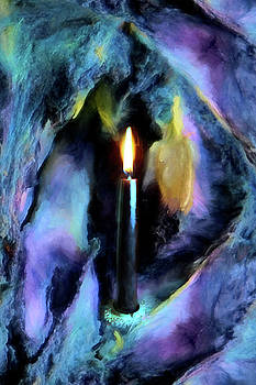 Candle in Cave by Lisa Yount