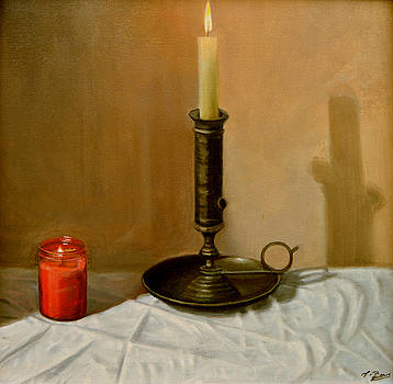 Candle Still Life by Tony Banos