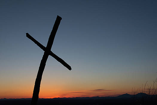 Candlers Mountain Cross by Steve Hammer