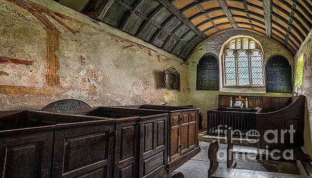Candles In Old Church by Adrian Evans