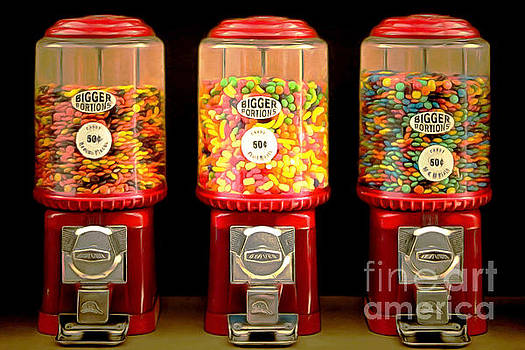 Candy Machines Bigger Portions 20170910 by Wingsdomain Art and Photography