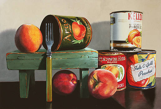 Canned Peaches by Denny Bond