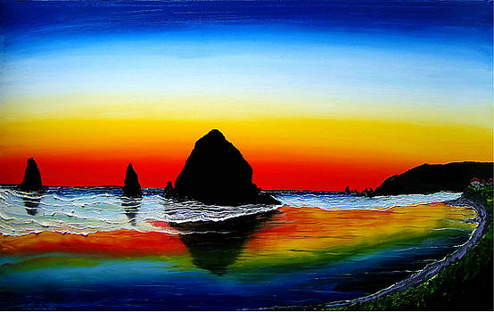 Cannon Beach At Sunset #26 by Portland Art Creations