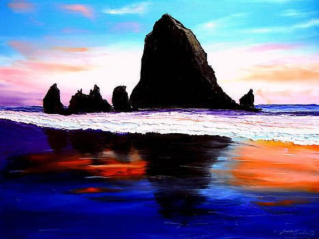 Cannon Beach Hay Stack Rocks #23 by Portland Art Creations