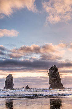 Cannon Beach Needles  by Drew Castelhano