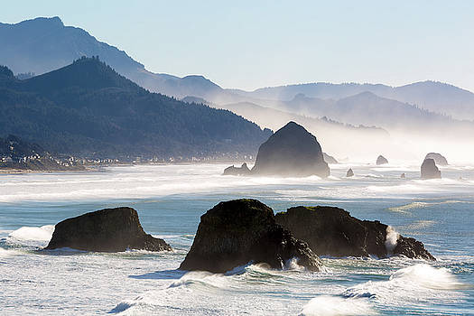 Cannon Beach on the Oregon Coast by David Gn