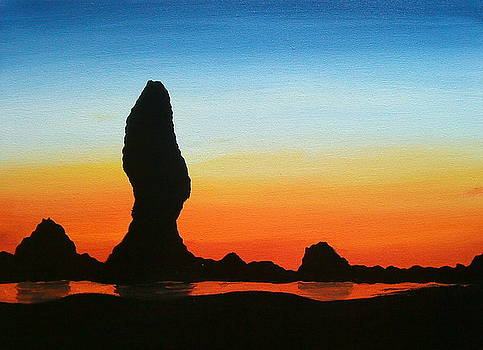 Cannon Beach Sunset 2 by Portland Art Creations