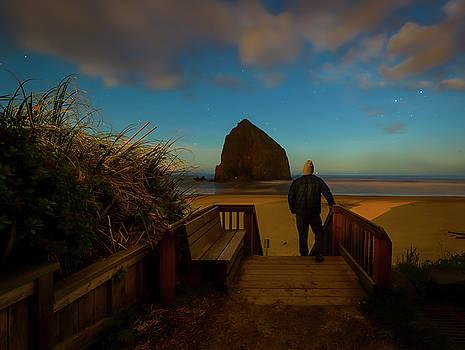 Cannon Beach's Haystack Rock by Matt Shiffler