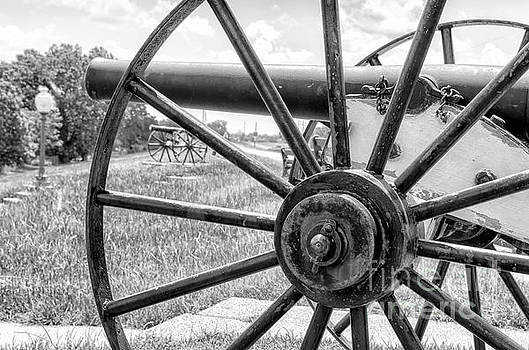 Kathleen K Parker - Cannons on the Levee - BW