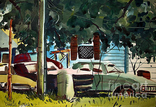 Cannus Auto and Used Cars framed by Charlie Spear