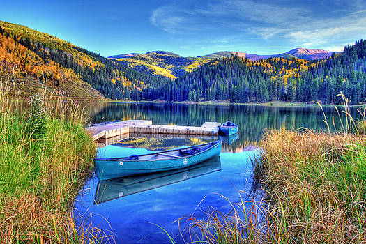 Canoe and Lake by Scott Mahon
