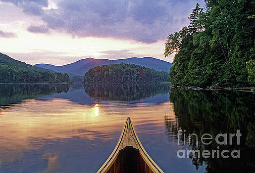 Canoe, Chain of Ponds, Maine by Kevin Shields