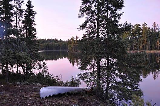 Canoe on an Island by Erin Clausen