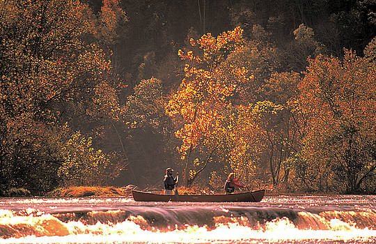 Canoe on River in Virginia by Carl Purcell