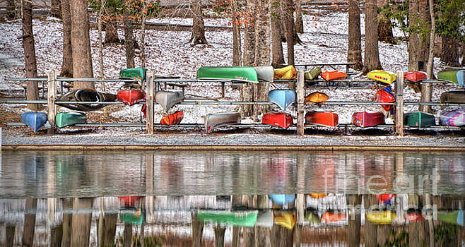 Canoe Reflections by Kerri Farley
