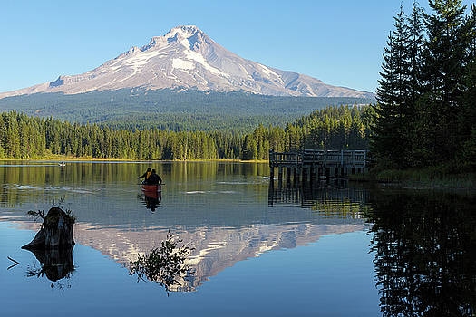 Canoeing at Trillium Lake by David Gn