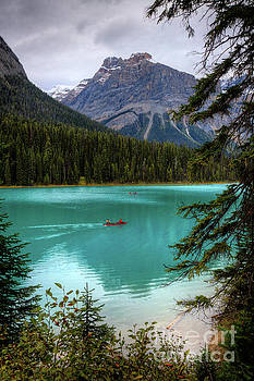 Wayne Moran - Canoeing on Emerald Lake Yoho National Park British Columbia Canada
