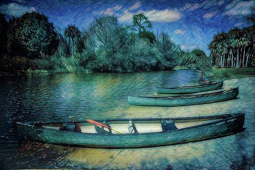 Debra and Dave Vanderlaan - Canoes in the Summer Caribbean Colors