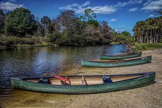 Debra and Dave Vanderlaan - Canoes in the Summer in HDR Detail