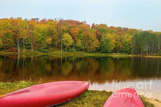 Dan Friend - Canoes on lakes edge