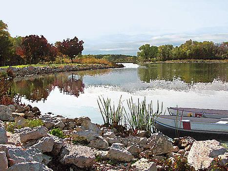Canoes On Monee Lake by Cedric Hampton
