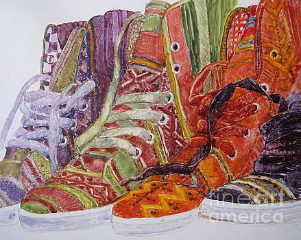 Canvas  Hightops by Louise Peardon