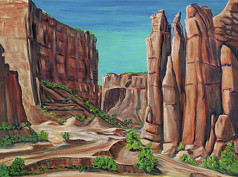 Canyon de Chelly AR by George Chacon