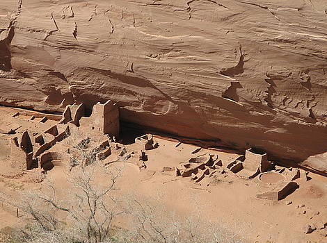 Canyon de Chelly ruins by Rollin Jewett