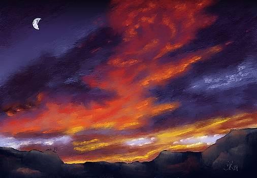 Canyon Sunset by Deborah Kolesar