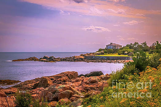 Cape Ann coast view by Claudia M Photography