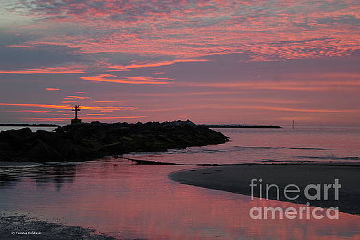 Cape Charles pink sunset by Tannis Baldwin