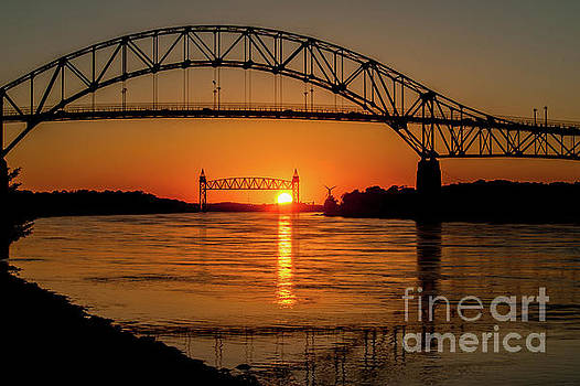 Cape Cod Canal Sunset by Michael James