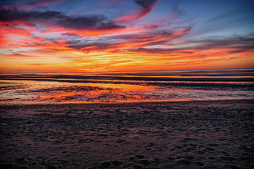 Cape Cod Fall Sunset by Dave Files
