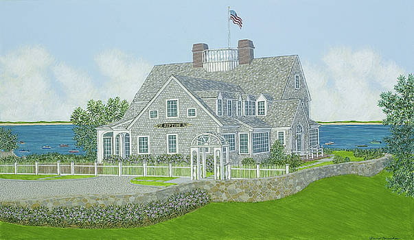 Cape Cod House Portrait by David Hinchen
