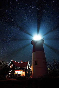 Cape Cod Light Beams by Mike Berenson