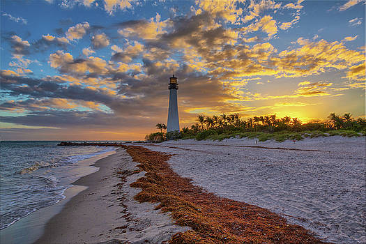 Cape Florida Lighthouse at Sunset by Claudia Domenig