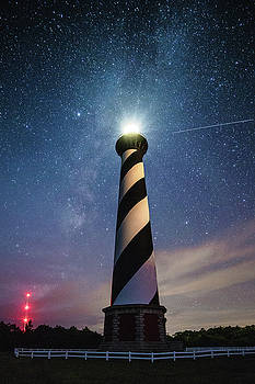 Cape Hatteras Light Under the Stars by Nick Noble
