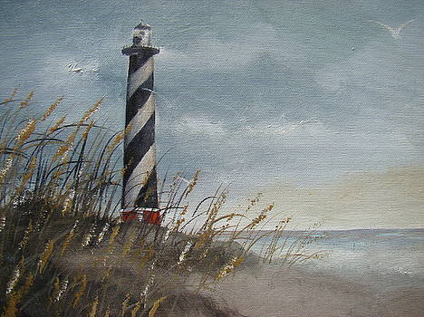 Cape Hatteras Lighthouse at Dusk by Charles Roy Smith