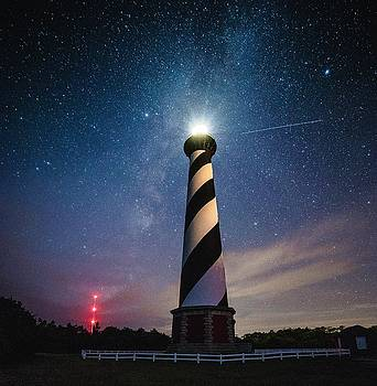 Cape Hatteras Lighthouse at Night by Nick Noble