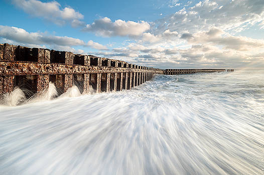 Cape Hatteras National Seashore Buxton Jetties Old Lighthouse Beach by Mark VanDyke
