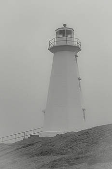 Andrew Wilson - Cape Spear Lighthouse in Black and White