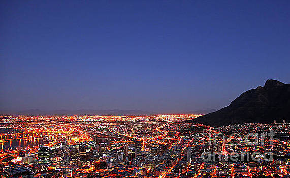 Cape Town at night, South Africa by Wibke W